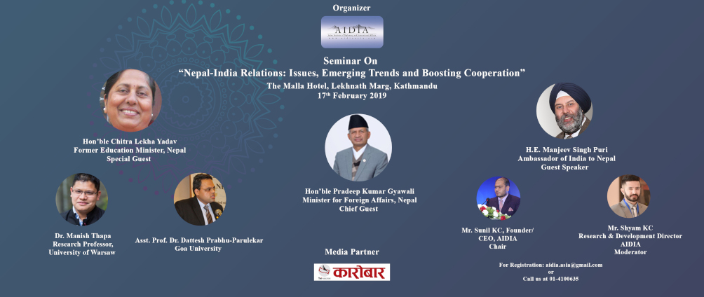 "Seminar on ""Nepal-India Relations: Issues, Emerging Trends and"