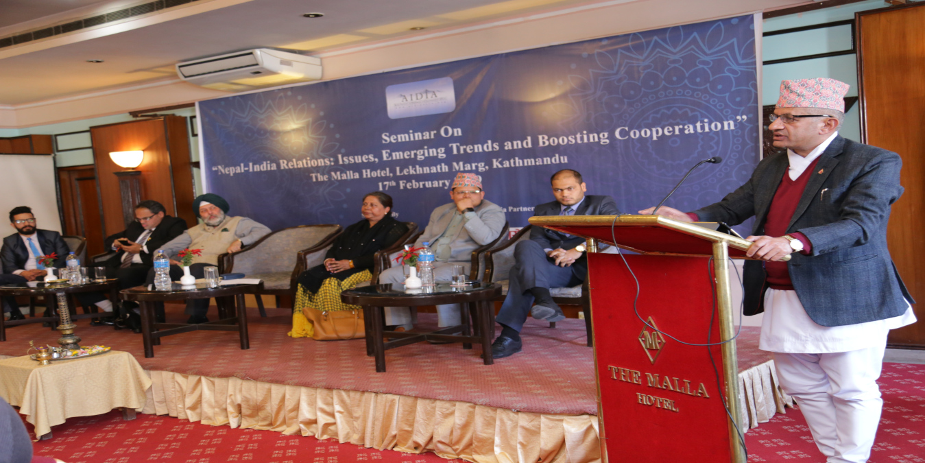 """Seminar on """"Nepal-India Relations: Issues, Emerging Trends and Boosting Cooperation"""""""